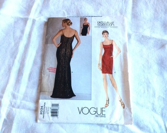 Vogue Bellville Sassoon Evening Gown Pattern, Vogue Designer Original Pattern, Vogue 2034, Evening Gown in Two Lengths, Uncut, Size 8 10 12