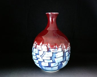ChingWenArts Studio Pottery handmade porcelain Vase# E180