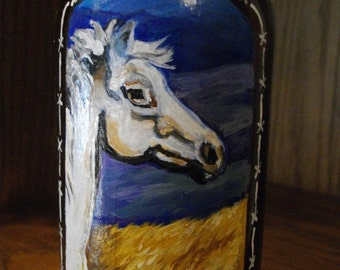 WILD HORSE - Painted Vintage BOTTLE