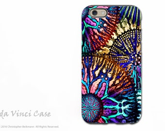 Apple iPhone 6 6s Case - Coral iPhone 6s Cover - Cosmic Star Coral - Artist Dual Layer iPhone 6s Tough Case by da Vinci Case