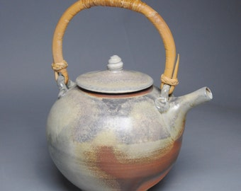 Wood Fired Teapot with Cane Handle F38