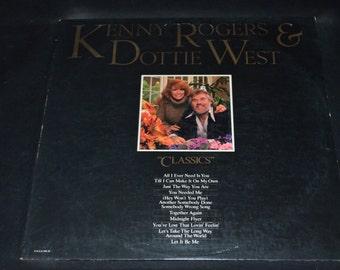 Vintage Vinyl Record Kenny Rogers and Dottie West: Classics Album UA-LA946-H