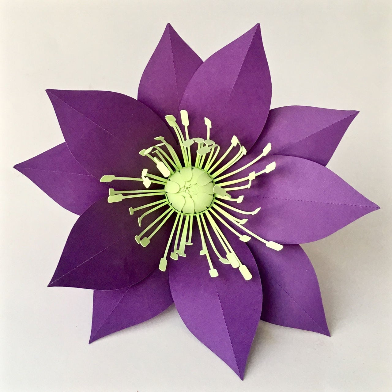 paper flower template hellebore for silhouette or cricut
