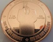 Bitcon - Anonymous 1 oz .999 Pure Copper Challenge Coin