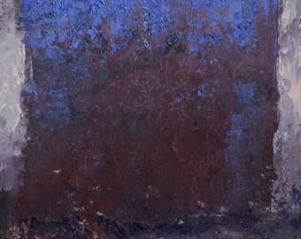"Original Abstract Oil Painting,  ""Treeline"" , 12""x9"", by  artist John Kelley"