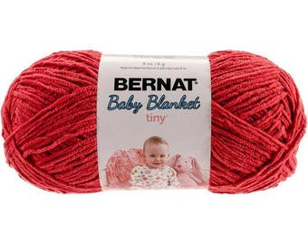 Bernat Baby Blanket Tiny Yarn Red Barn Worsted Weight 4