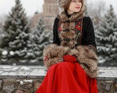 "Short Fur Coat ""Russian Seasons"" with Hat and Muff; Personal listing for Stella"