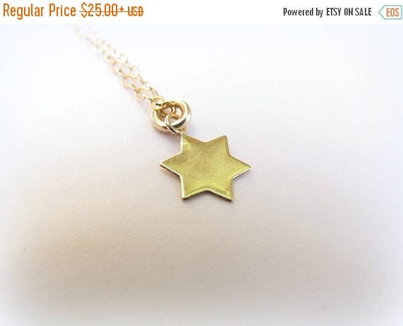 Mothers Day Sale - Star of David Necklace - Tiny gold Star of David Necklace - David star necklace - Small star of david necklace - Star of