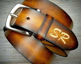 Personalized Leather Belt. Sturdy Genuine Leather Belt. Mens Leather Belt. Womens Leather Belt.  Wedding Monogram Belt. Christmas Gift.