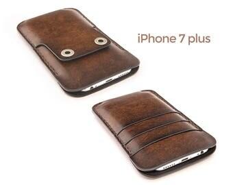 iPhone 7 plus leather case - iPhone 7 plus case - iPhone 7 plus wallet