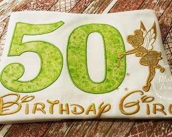 Tinkerbell Fairy-Inspired Birthday Shirt - 16th - 21st - 40th - 50th - 60th - Custom Birthday Tee 704