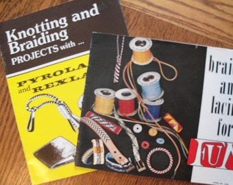 Braiding and Lacing for Fun,Knotting and Braiding,Boondoggle,Set of 2 Books - FREE SHIPPING
