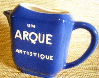 Un Arque Artistique, Vintage Look Reproduction French Bistro Pitcher
