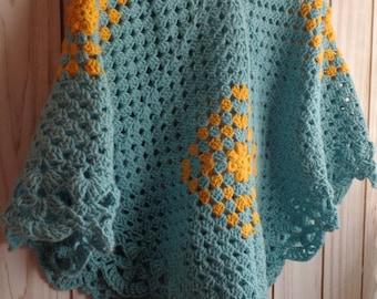 Crocheted Poncho / Handmade Poncho /  Crocheted Poncho For Women / Handmade Wrap / Warm Cape / Cape  For Woman/ Spring Poncho /  Fall Poncho