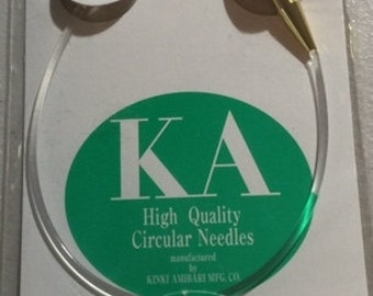 Kinki Amibari circular knitting needles size US9