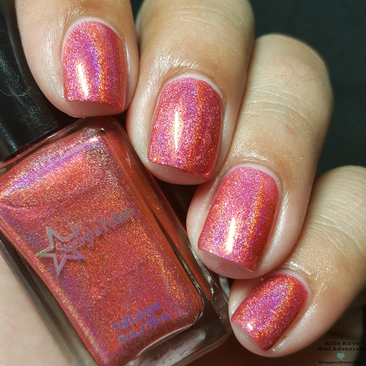 Pink Corazon Pink Coral Holographic Rose Romance Holo