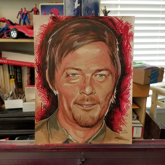 Norman Reedus Illustration - Original Art
