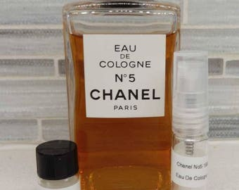 1980s Chanel No. 5 Eau De Cologne Iconic Fragrance Decant Samples