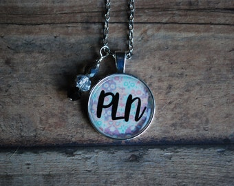 "Tarryn Fisher Readers Inspired ""PLN"" Necklace/Keychain"