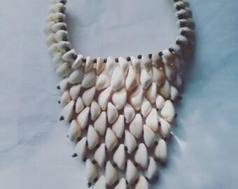 Cowrie Shells Necklace (Vee shape)