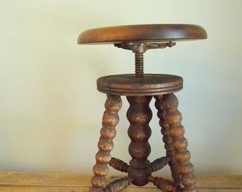 Adjustable Wood Piano Stool & Antique piano stool | Etsy islam-shia.org