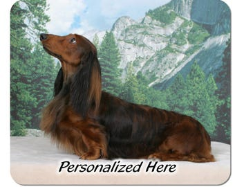 Dachshund Longhaired ( 20 )  ((((( PERSONALIZED ))))) Mouse Pad