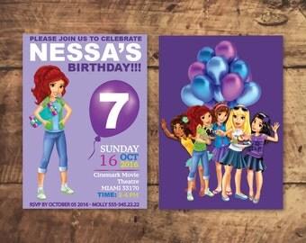 LEGO FRIENDS INVITATION, Lego Birthday Party, Lego Party install download, Invitacion, invitation d'anniversaire, invito compleanno
