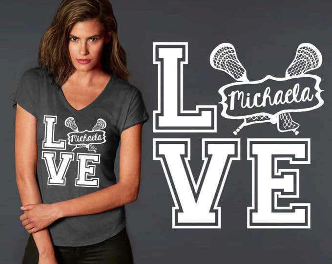 Lacrosse Tee | Lacrosse T-shirt | Custom Lacrosse Shirt | Custom T-shirts | Personalized T-shirts | Inspirational T-shirt | Korena Loves