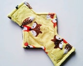 "Moderate or Heavy flow Custom Minky ""Foxy Tails "" Cloth Menstrual Pad ~ Pick the Length ~ Eco Friendly ~ Vegan"