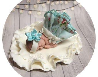 Baby Shower Cake Fondant Cake Topper Baby Girl Edible Cake