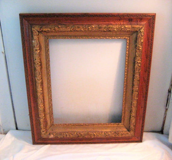 Large Antique Wood Frame Decorative Frame Ornate Frame Dark