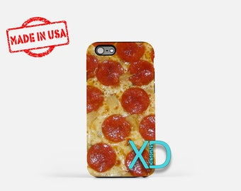 Pizza iPhone Case, Pepperoni iPhone Case, Pizza iPhone 8 Case, iPhone 6s Case, iPhone 7 Case, Phone Case, iPhone X Case, SE Case Funny