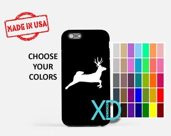 Simple Deer iPhone Case, Running Deer iPhone Case, Deer iPhone 8 Case, iPhone 6s Case, iPhone 7 Case, Phone Case, iPhone X Case, SE Case