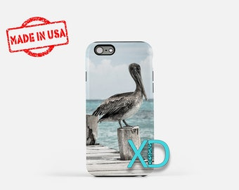 Pelican iPhone Case, Sea Wharf iPhone Case, Dock iPhone 8 Case, Nature, iPhone 6s Case, iPhone 7 Case, Phone Case, iPhone X Case, SE Case