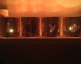 Girlfriend gift, wedding, best friend, copper lantern, copper gift, copper anniversary, I love you, love, personalized gift, Valentine's Day