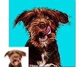 Custom Pet portrait natural colors - your picture - digital