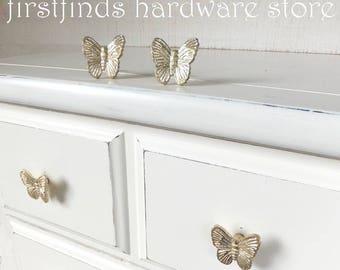 Butterfly Knobs Gold Drawer Pulls Painted Cabinet Metal Hardware Door Handles Furniture Kitchen Cupboard Bedroom Dresser ITEM DETAIL BELOW
