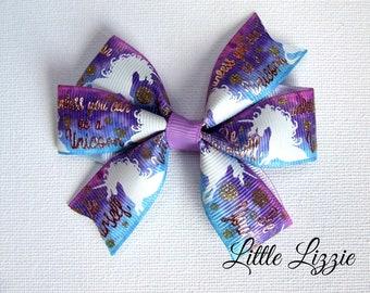 Unicorn pinwheel clip, Unicorn bow, Ombre