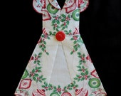 Christmas Hanky Dress - Reserved for Carolyn