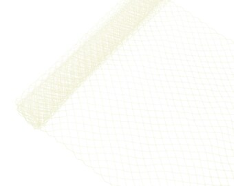 """1 Yard x 10"""" Ivory Russian Millinery Birdcage Veil Netting - Available in 15 Colors"""