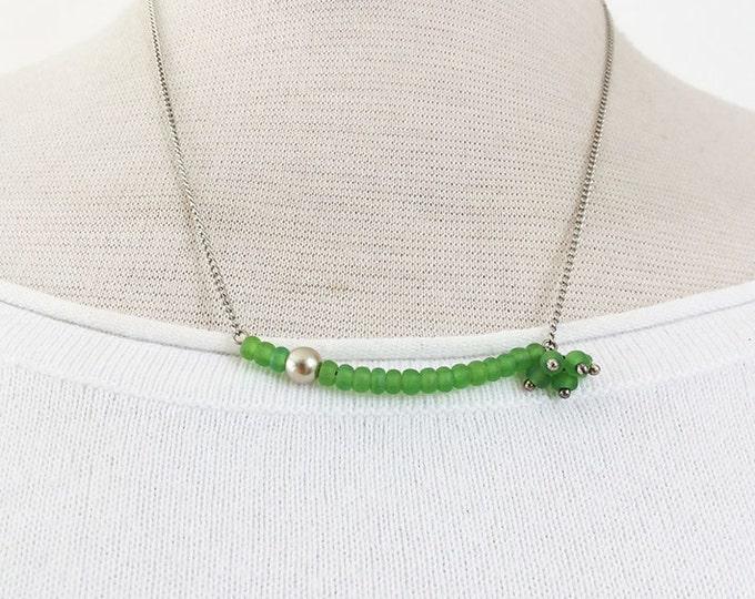 Asymmetric Necklace - delicate jewelry - minimalist jewelry - minimalist necklace