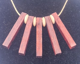 Necklace. figured timber. West Australian Jarrah
