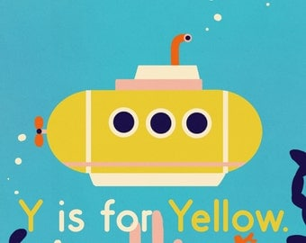 Y is for Yellow illustration print