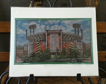 High Quality Archival Print of Memorial Stadium Baltimore Maryland