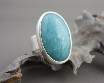 Amazonite Silver Ring