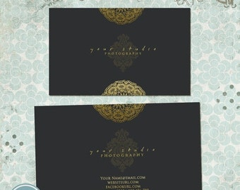 ON SALE Business Card Template, Photographers, Photography Design 02 - INSTANT Download