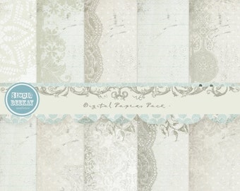 ON SALE Digital Scrapbooking Papers pack, 12x 12 in 300 dpi vol.47, card making - INSTANT Download