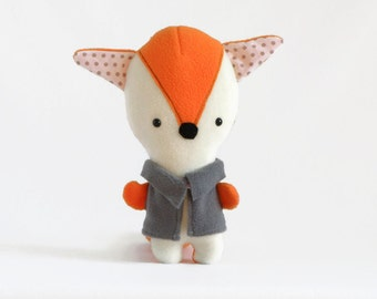 Fox Plush toy, Stuffed Animal Toy, Unisex Baby Shower Gift, Fox Soft toy, Stuffed Plush Toy, Cute Animal Plushies, Fox Toy, Fox Plush doll