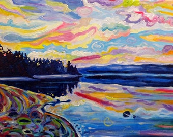Art Print, The Denman Sunrise, Canadian Westcoast Island Art