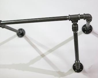 Industrial design wardrobe rack steel